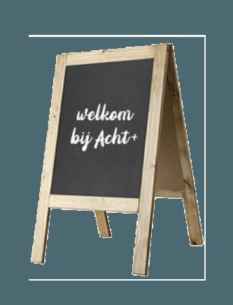 Stoepbord branding winkelconcept Amersfoort