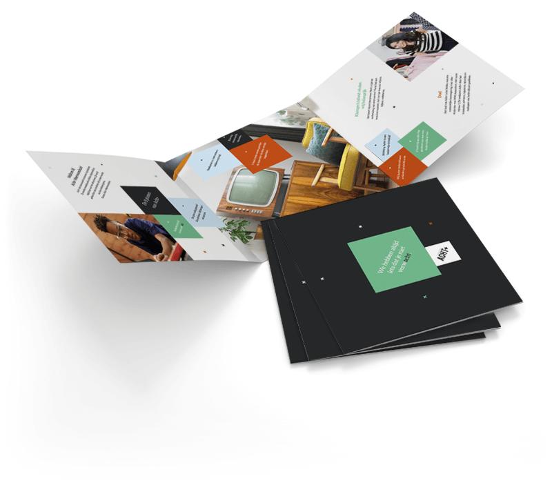 Brochure als blikvanger branding winkelconcept